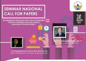 SEMINAR NASIONAL AKUNTANSI dan CALL FOR PAPERS